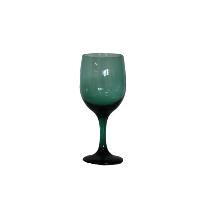 Teal Green Wine Glass
