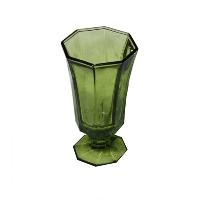 Octagon Green Goblet