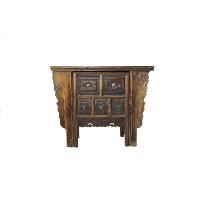 Carved Wood Desk