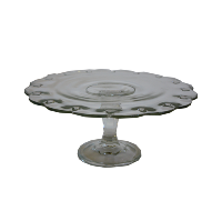 Glass Scalloped Cake Stand