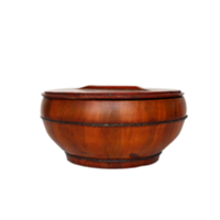 Wooden Bowl w/Cover