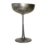 Tall Metal Goblet