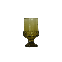 Frosted Green Goblet