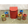 Set: 6 Assorted Tin Vessels
