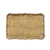 Distressed Gold Wood Tray