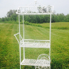 Wrought Iron White Garden Cart