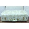 Vintage Tan & Cream Marble Suitcase