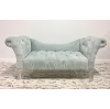 Blue Tufted Settee