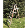 Vintage Chippy Red Wooden Ladder