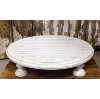 White Wash Wooden Cake Pedestal