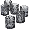 Black Cut Glass Votive Holders