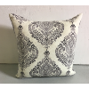 Black & Ivory Indo Print Pillow