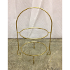 Gold Two Tier Plate Stand