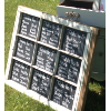 9 Pane Chalkboard Window