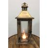 Wood & Gold Flecked Lantern