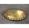 Large Vintage Brass Bamboo Design Tray