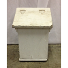 Vintage White Wooden Milk Box