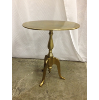 Brass Oval Side Table