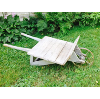Rustic Chippy Wooden Wheelbarrow