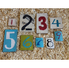 Colorful Wooden Table Numbers