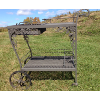 Wrought Iron Grey Garden Cart