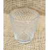 Set of 6: Clear Hobnail Tea Light Candle Holders