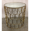 Mirror Top Round Gold Table Small