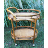 Rattan / Bamboo Bar Cart