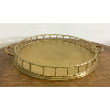 Vintage Brass Bamboo Design Tray