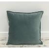 Dusty Blue Velvet Throw Pillow