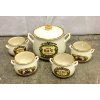 Set: 5 Vintage Bean Pots