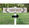 Staked Cocktails Directional Sign