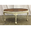 Vintage Oval Coffee Table, Ivory Base