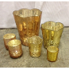 Set:6 Assorted Mercury Candle Holders