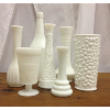 Assorted Milk & Hobnail Vases