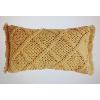 Yellow Braided Pillow