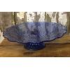 Vintage Blue Cake Pedestal
