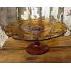 Vintage Amber Pedestal