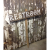 Staked Restroom Sign