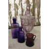 Set: 4 Assorted Vintage Purple Glass Vessels