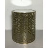 Mirror Top Gold Cylinder Accent Table