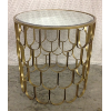 Mirror Top Round Gold Table