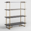Brass & Black Herringbone Shelves