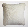 Set of Two Ivory Shaggy Pillows
