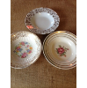 Vintage Assorted Floral China Fruit Bowls