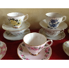 Vintage Assorted Floral China Tea Cups & Saucers