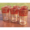 Moroccan Tea Glasses: Red & Gold