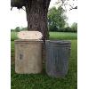 Set: Vintage Garbage Can & Vintage Laundry Basket