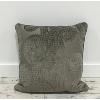 Grey Paisley Pillow