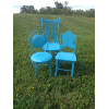 Assorted Teal Chairs